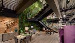 dekoratyvinė sienelė, dirbtinė žolė, dirbtiniai vijokliai