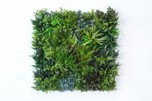 dekoratyvinė sienelė, dirbtinė žolė, dirbtiniai augalai